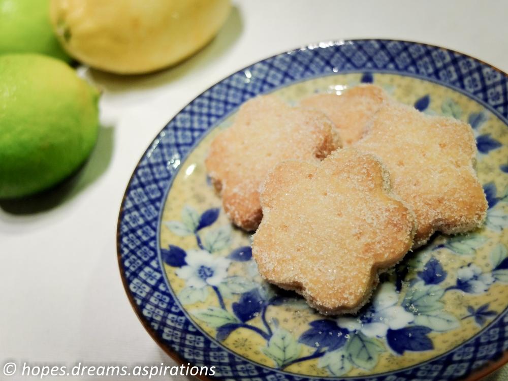 citrus shortbread biscuit