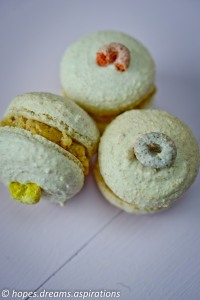 Fruit loops macarons with buttercream